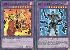 YUGIOH CARD 1 X ELEMENTAL HERO NOVA MASTER  + ADORATION - BLLR-EN056  ULTRA