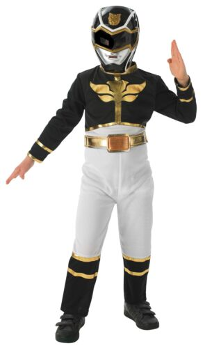 Megaforce Enfants noir Taille S-M-L Power Ranger Classic Costume de Rubies