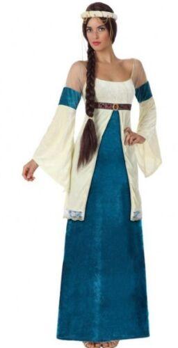 Déguisement Femme PRINCESSE Médiévale Bleu XS//S 36//38 Dame Moyen Age NEUF