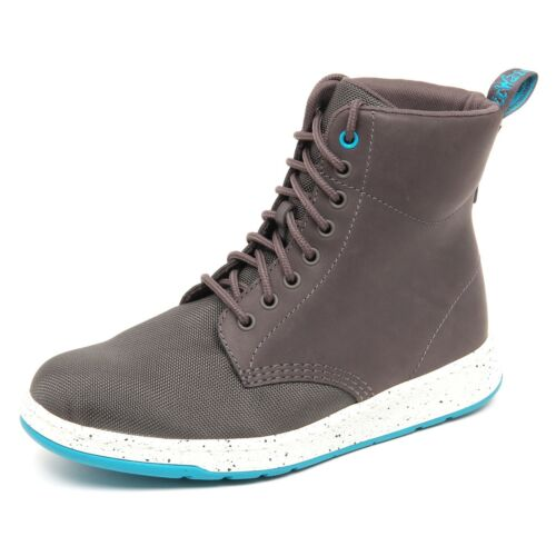 Sneaker Grey D8134 tissue Dr Man Shoe Leather Martens Uomo Box without 4wEBg