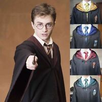 Harry Potter Adult Gryffindor/Slytherin/Hufflepuff/Ravenclaw Robe Cloak Cape