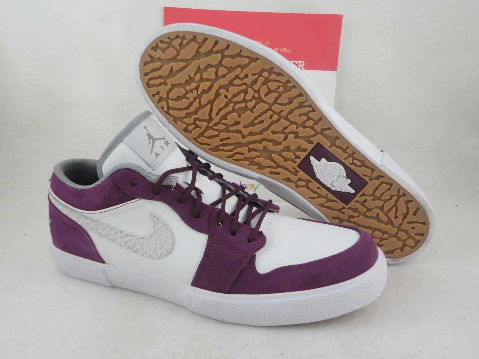 Nike Air Jordan Retro V.1, 2012 DS, White / Bordeaux, Leather Suede Gum, Sz 10.5