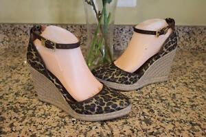 dde15360d9f nwob Louise Et Cie Women's Leopard Palma Espadrille Wedges Size 9.5B ...