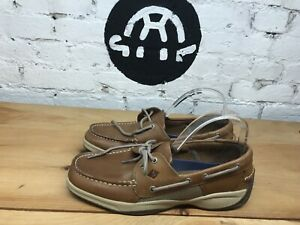 Sperry-Men-039-s-Intrepid-Top-Sider-Tan-Leather-Casual-Boat-Shoes-Pick-Size