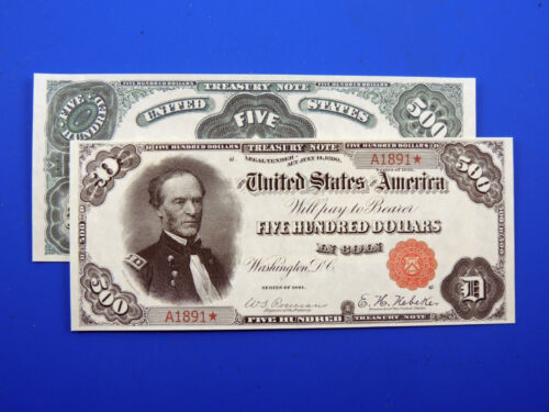 Reproduction $500 1891 Treasury Note US Paper Money Currency Copy