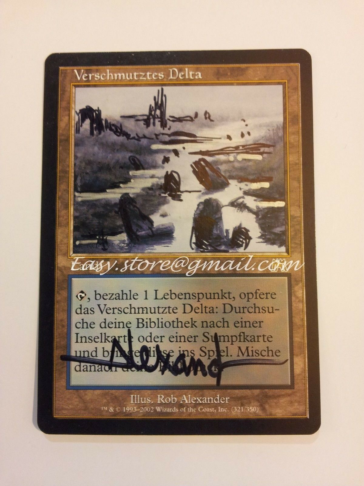DELTA POLLUTED - POLLUTED DELTA SIGNED DE ARTWORKED - MTG MAGIC