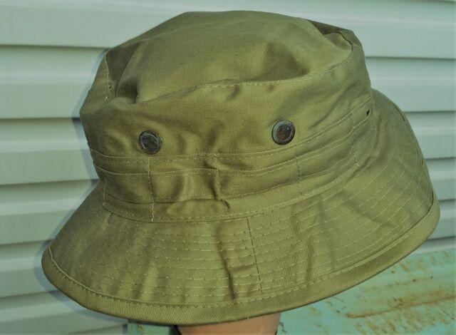 a2be7b3d8 BUSH HAT OLIVE GREEN BRITISH / AUSTRALIAN - MALAYA / VIETNAM REPRODUCTION