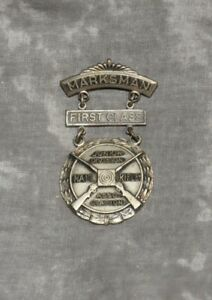 Details about Vintage NRA Junior Division Marksman 1st-Class Competition  Badge Pin Blackinton