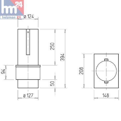 s l1600 - Helios ELS-D 125 Brandschutz-Deckenschott 185