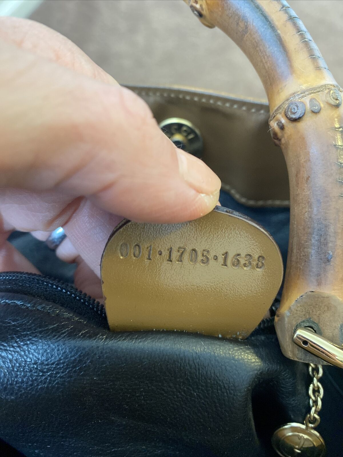 GUCCI COPPER BAMBOO HANDLE BAG VINTAGE DIANA LEAT… - image 11