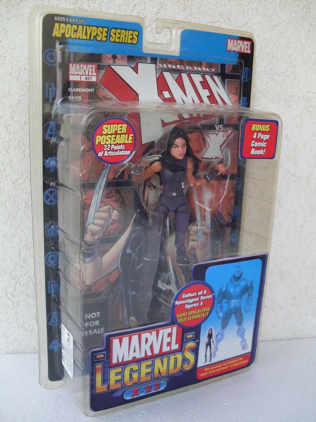 X 23 Action Figure Apocalypse Series Poseable Book X Men Marvel Legends 71143