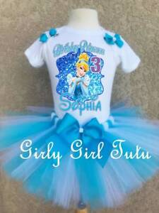6dded7792 Cinderella Princess Birthday Outfit Tutu Party Dress Set Gift