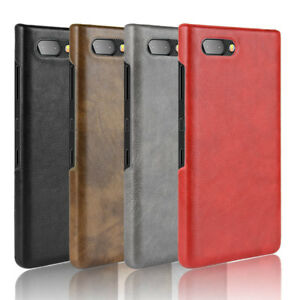 purchase cheap 53897 f5d5e Details about For Blackberry Key2 Luxury Retro Leather Fabric Coated hard  case back cover