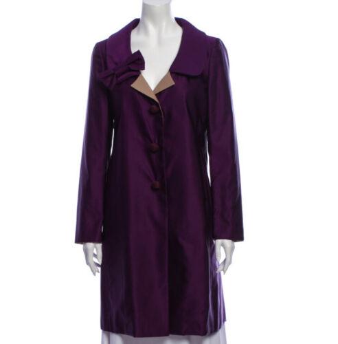 Prada Wool Silk Purple Trench Coat Size 4