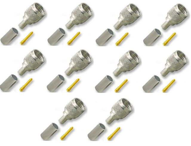 10 PACKS USA Seller N Male Crimp Connector for RG213U Cable