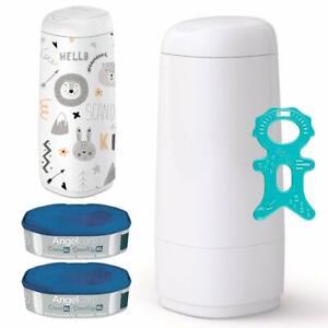 Angelcare® Dress-Up XL Starter-Set: Windeleimer + 2 Nachfüllkassette + Dress-Up