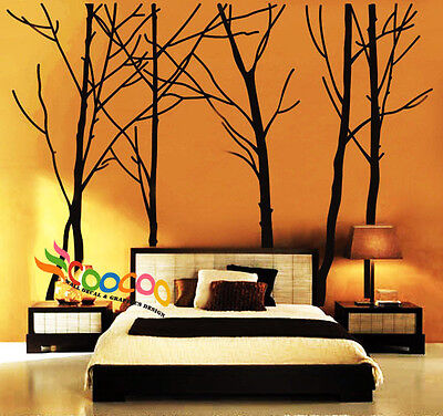 Wall Decor Decal Sticker vinyl large tree trunk forest