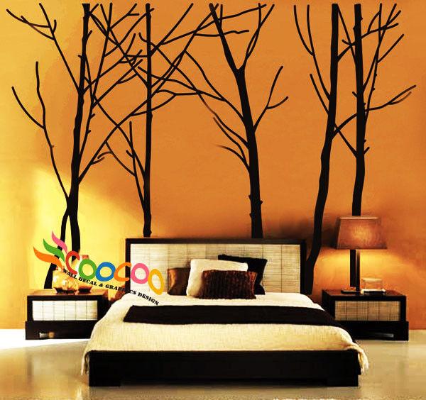 "Wall Decor Decal Sticker vinyl forest 94""H dc 0251"
