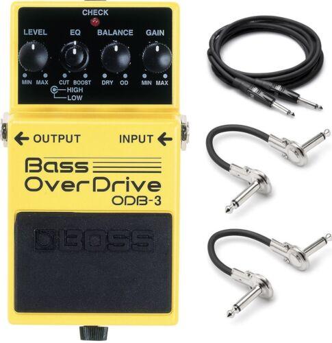 New Boss ODB-3 Bass Overdrive Bass Guitar Effects Pedal w// Hosa Cables!