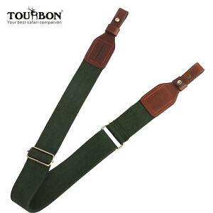 Tourbon-Gun-Sling-Rifle-Shotgun-Strap-Hunting-Belt-2-Points-Webbing-Army-Green