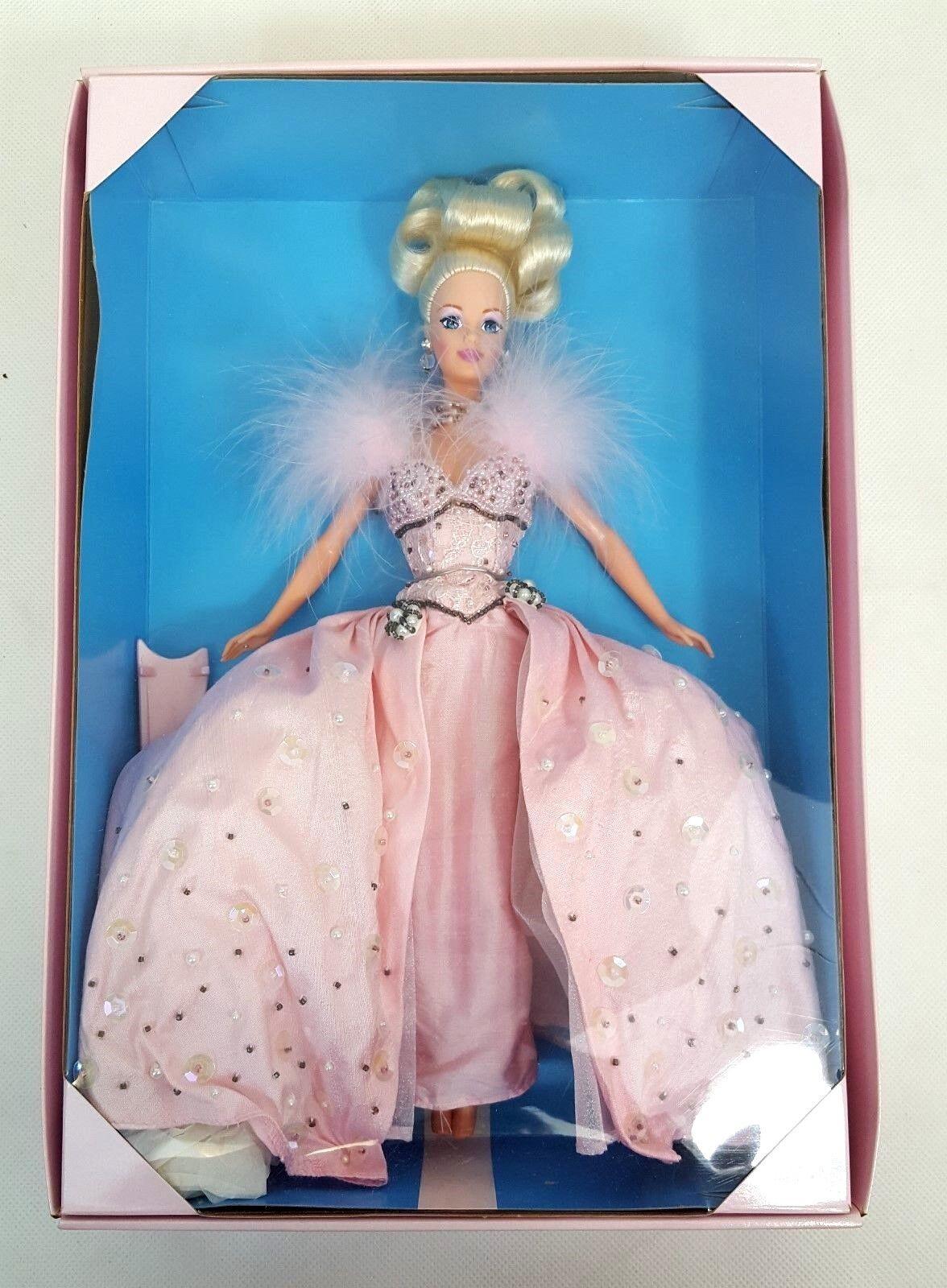 1996 Mattel muñeca Barbie de edición limitada de hielo rosado 1st en serie Toys R Us