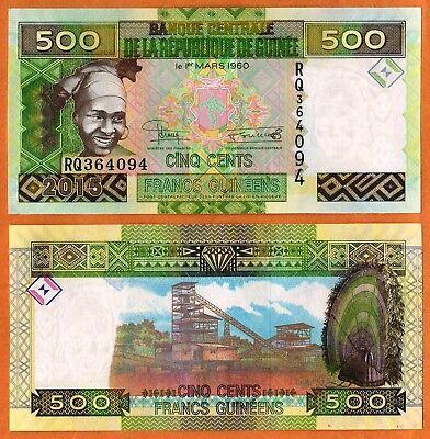 GUINEA  5000 FRANCS  2012  P 41b prefix SE  Uncirculated Banknotes