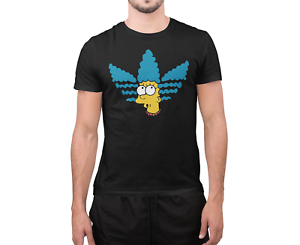Adidas Marge The Simpsons Cartoon Men's T-Shirt DTG Printed Cotton T-Shirt