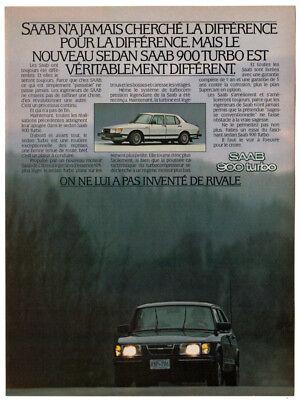 1988 SAAB 900 TURBO SPG Genuine Vintage Ad ~ RARE CDN Ad