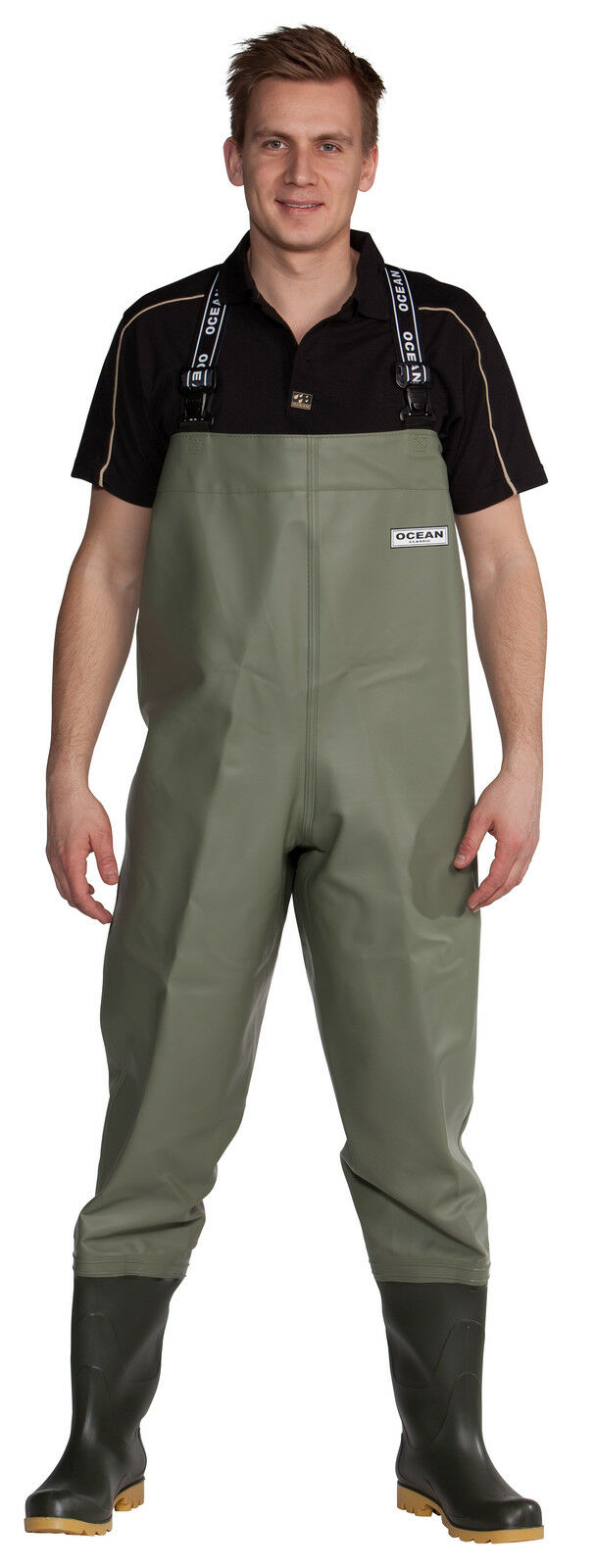 Ocean Classic Chest Waders Wide Wide Wide +22cm 600g PVC / 2-73 Fishing Chestwaders 3e5dd0