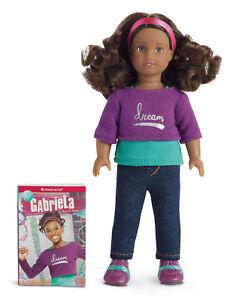 """NIB AMERICAN GIRL MINI GABRIELA 6/"""" DOLL WITH BOOK"""