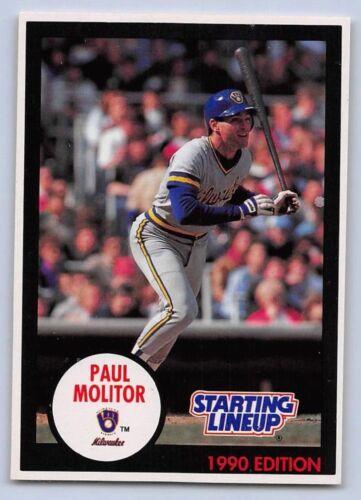 1990  PAUL MOLITOR MILWAUKEE BREWERS - Kenner Starting Lineup Card Blue