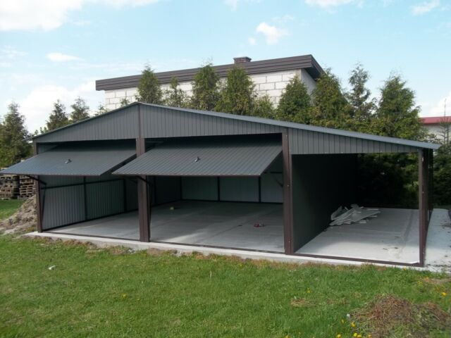 Mehrzweck Schuppen Blechgarage Garage Fertiggarage Metallgarage Lagerhalle 9x5m