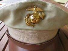 USMC Insignia Badge Screw Visor Hat Marine Corps Army Navy Marines Vietnam WK2 G