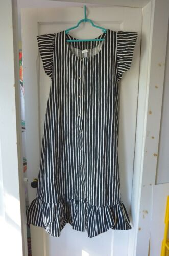 vintage 44 16  Marimekko Dress Buttons Black & Whi