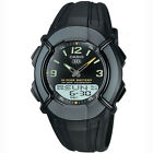 Casio Mens Analogue Digital Combination Black Wrist Watch 30 Page Databank