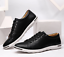 Men-039-s-Casual-Leather-Shoes-Fashion-Sneakers-Sport-Lace-Up-Shoes-Large-Size-10-13 thumbnail 2