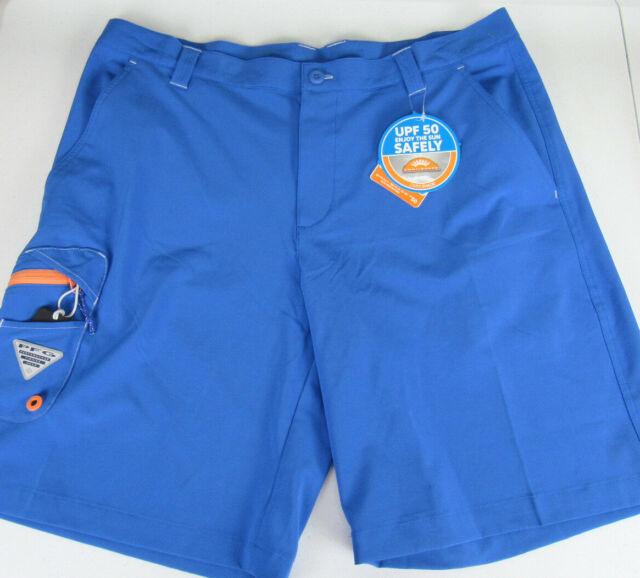 b8f6728d Columbia Sportswear Mens PFG Terminal Tackle Shorts 36 x 10 Blue NWT Fishing  UPF
