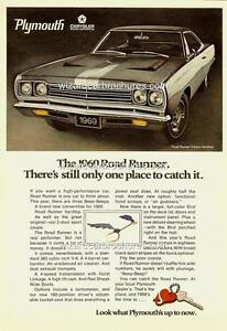 1969 PLYMOUTH ROAD RUNNER MOPAR HEMI A3 POSTER AD SALES BROCHURE MINT ADVERT