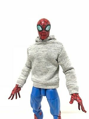 """SHF OZ-SS-RED Figma FIGLot 1//12 fabric Red hoodie for 6/"""" ML Spiderman"""