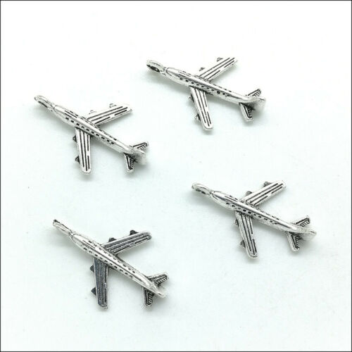 100pcs airliner Antique Silver Charms Pendants For Jewelry Making DIY 22*15mm
