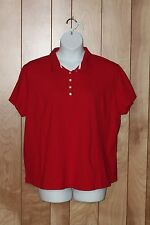 WOMEN'S LEE RIDERS SHORT SLEEVE POLO SHIRT-SIZE: 2X