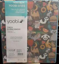 New 2 Yoobi Charcoal Stacks Of Animals 1 Inch D Ring Hardback Binder 220 Sheets