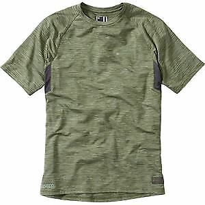 Madison Roam marl men's short sleeved jersey, dark olive large