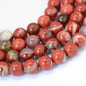Imperial-Jaspis-Perlen-Rot-8mm-Edelsteine-Natursteine-Schmucksteine-BEST-G56