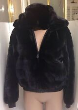 Hermes Fur Jacket Reversible Mink And Leather Hood  Size Small (36)