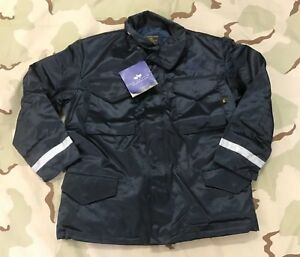 ALPHA INDUSTRIES COAT M-65 FIELD JACKET MILITARY POLICE REFLECTIVE ... c9639571e4c0