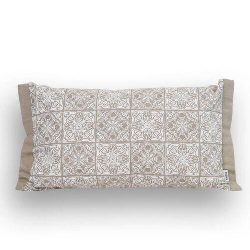 """Beties /""""arabesque/"""" almohada funda con dobladillo pie aprox 30x50 cm mosaico-print en tonos sepia"""