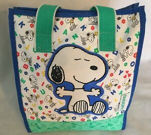 Details About Multi Snoopy Dog Print Insulated 5 X 8 10 Lunch Box Baby Bag Purse