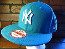 New York YANKEES Teal Baseball Snapback Hat NEW Era Adult Cap