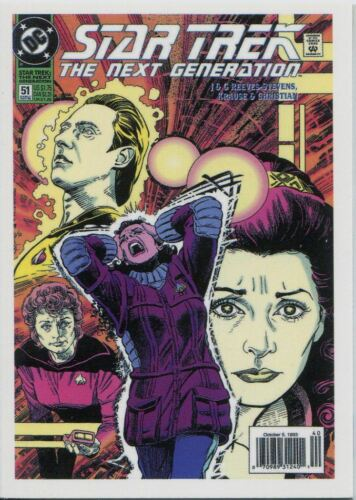 Star Trek TNG Portfolio Prints TNG Comic Book Chase Card CBK2.51